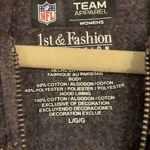 NFL Team Apparel Jackets & Coats - Green Bay Packers Lightweight Zip-Up Hoodie